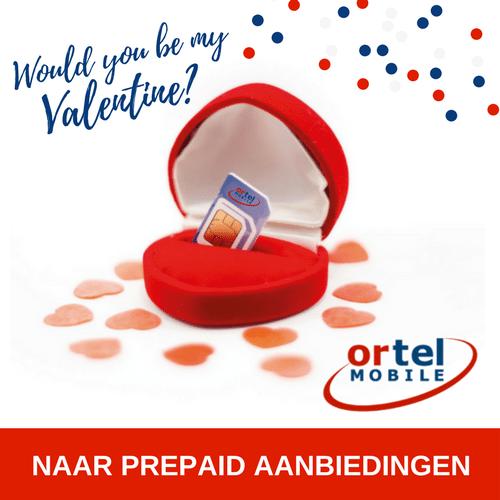 Valentijnsdag komt eraan en Ortel geeft 1 gratis simkaart weg met 1 GB en €2 beltegoed. Met Ortel Valentijnsactie kan het beltegoed oplopen tot wel € 10,-.