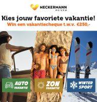 Win een vakantiecheque van 250 euro