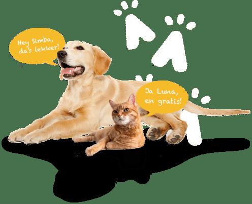 Gratis proefverpakking van PawMall dierenvoeding