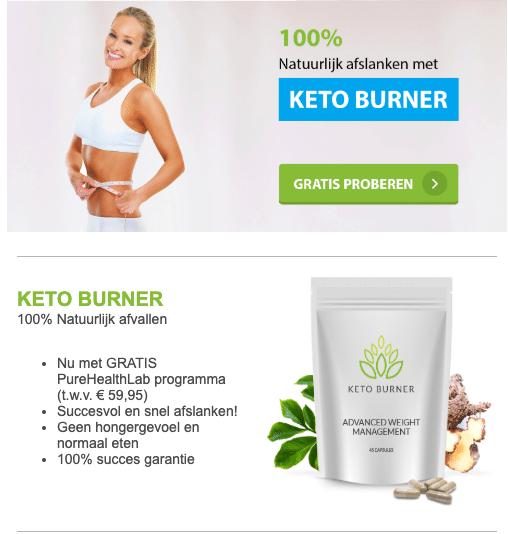 Keto Burner de gezonde en snelle Vetverbrander