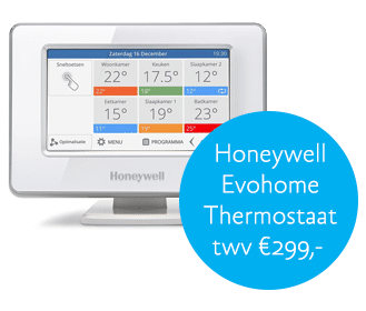 Kans op Honeywell Evohome thermostaat t.w.v. € 299,-