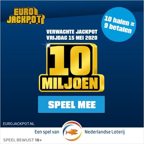 Gratis Eurojackpot loten! Speel met 10 loten en betaal er 9