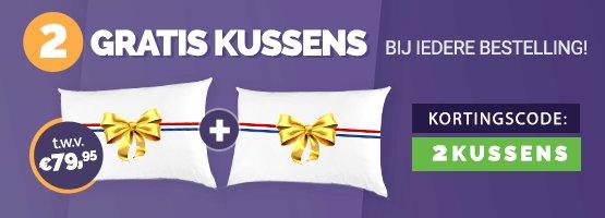 2 Gratis Anti Stress kussens t.w.v. € 79,95