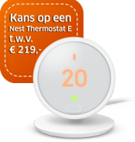 Maak kans op Nest Thermostat E t.w.v. € 219.-