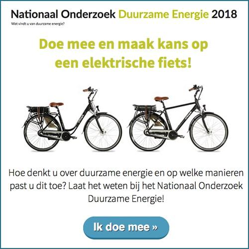 Wat vind je van duurzame energie? Doe mee met dit onderzoek over duurzame Energie en maak kans op een elektrische fiets.