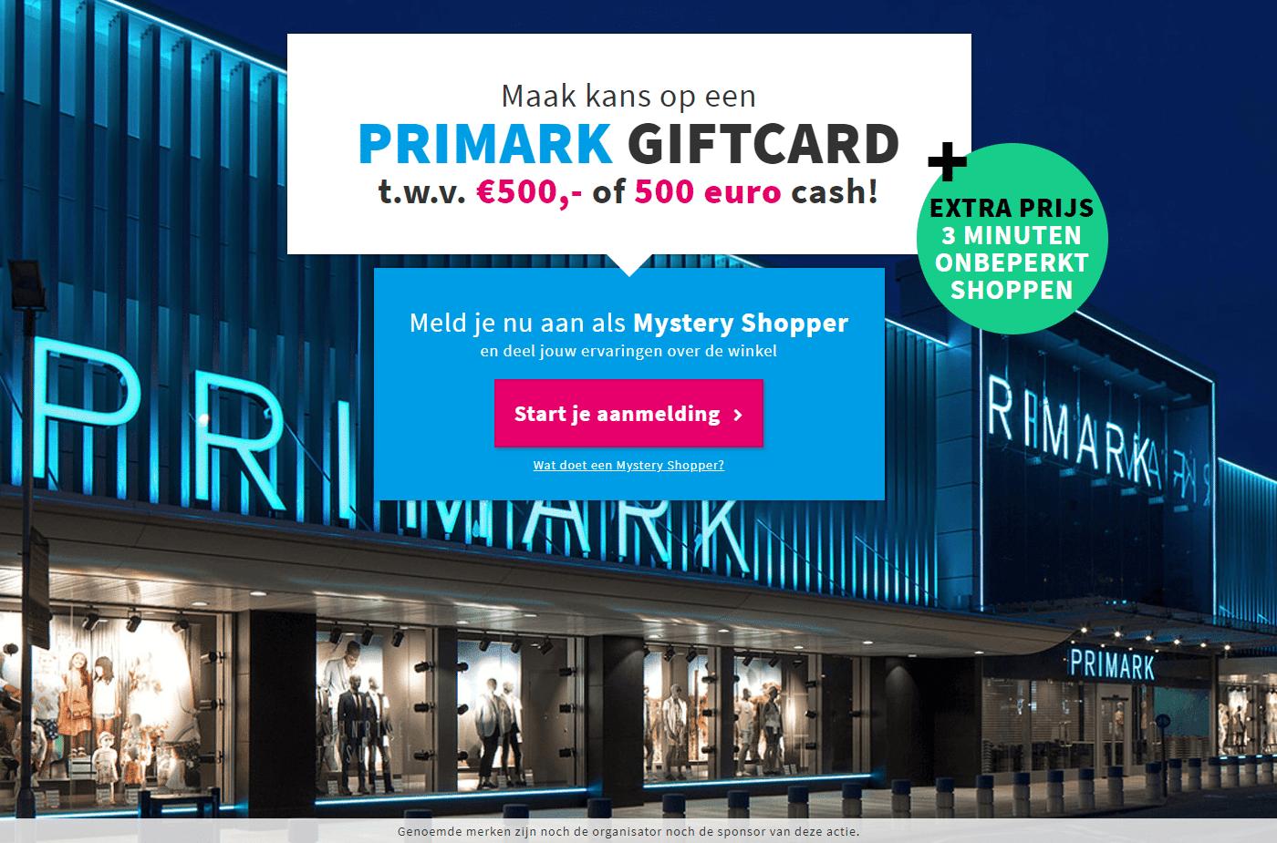 3 minuten onbeperkt shoppen bij de Primark kleding