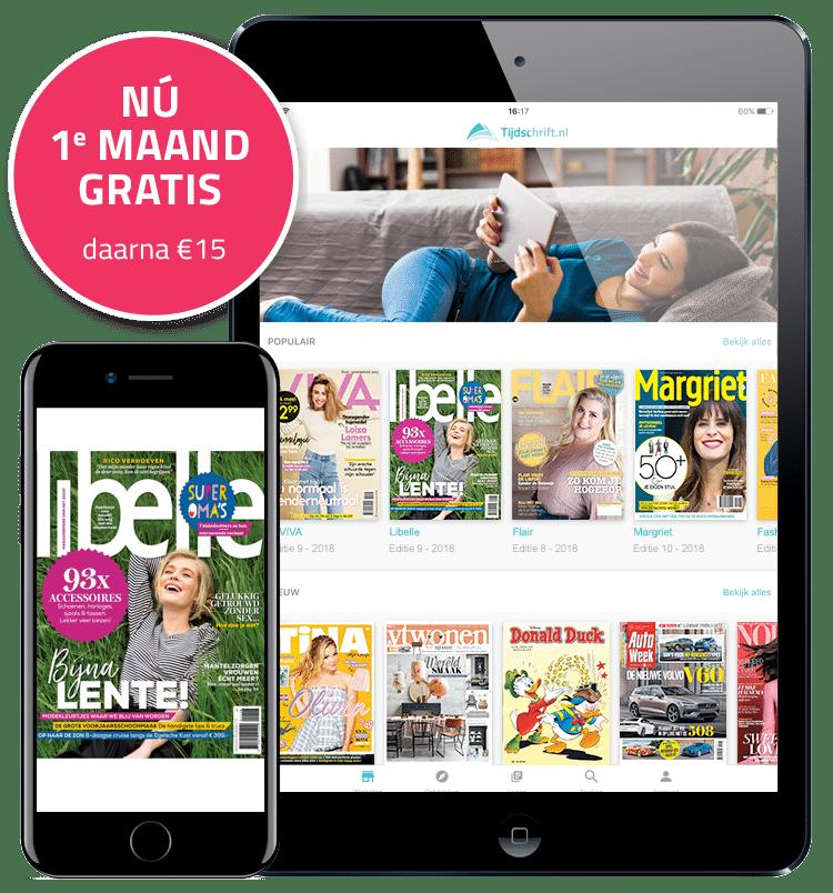 Wil je gratiséén maand lang alle tijdschriften lezen? Bij Tijdschrift.nl krijg je toegang tot meer dan 50 tijdschriften zoals libelle, Autoweek en meer!