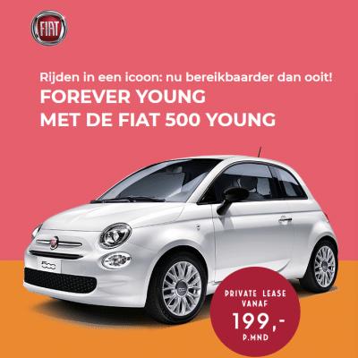 Is een autolease beter dan een auto koop? Laat je gratis voorlichten of het leasen van deFiat 500 Young voor jou de beste optie is. Laat je gratis informeren.