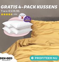 4 Gratis Anti Stress kussens t.w.v. € 139.95