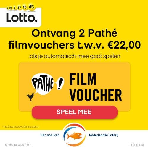 Lotto Gelukspakket met 2 Gratis Pathé filmvouchers
