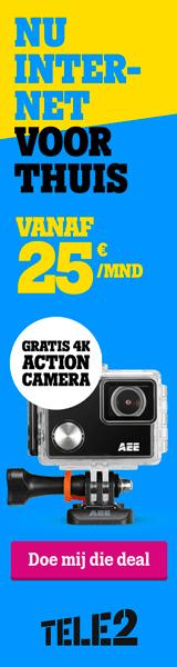 Tele2 aanbieding met Gratis 4K Action Camera