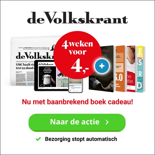 Gratis Bestseller bij Volkskrant 4 weken voor 4 euro