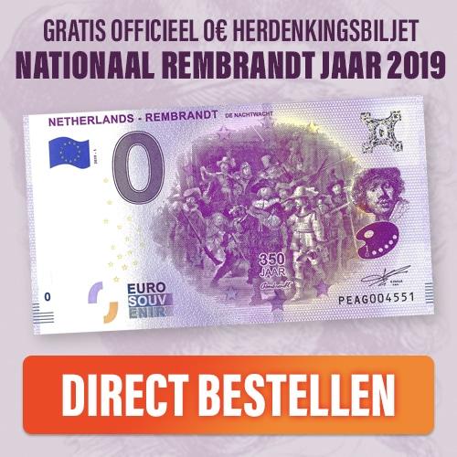 Gratis Rembrandt 350 jaar € 0.0 herdenkingsbiljet