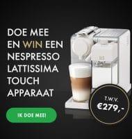 Online enquete maken? Win een Nespresso Lattissima