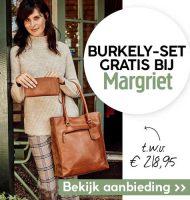 Margriet magazine met Gratis Burkely-set