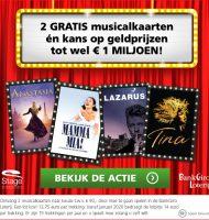 2 gratis musicalkaarten bij de Bankgiro loterij
