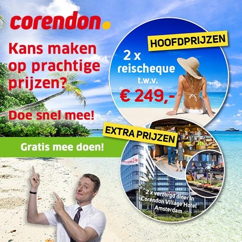 Win een Corendon vakantiecheque van 249 euro