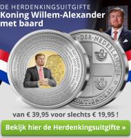 Koning Willem Alexander munt met 20% korting