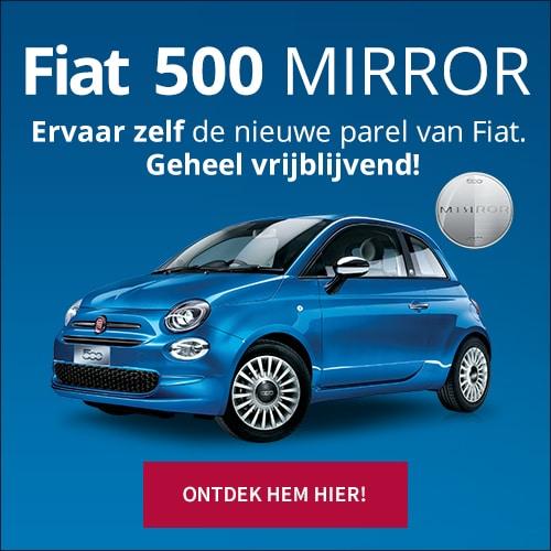 Onbezorgd Autorijden is eigenlijk Private Lease! Het is nu mogelijk om de Fiat 500 Mirror voor een vastbedrag per maand te rijden. Pak je voordeel!