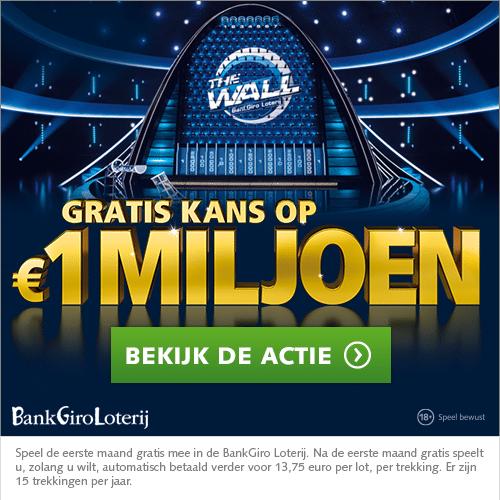 De Bankgiro loterij pakt uit! Speel mee met The Wall en je kunt zomaar € 1 Miljoen winnen. Veel mensen scoren mooie prijzen. Nu jij nog!