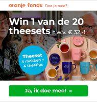 Win Gratis Theeset t.w.v. € 32.- met NLdoet