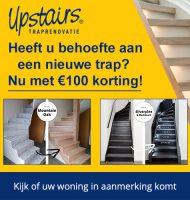 Gratis Upstairs Traprenovatie advies en € 100,- korting