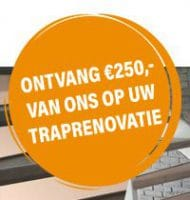 Traprenovatie in een dag en € 250,- cadeau
