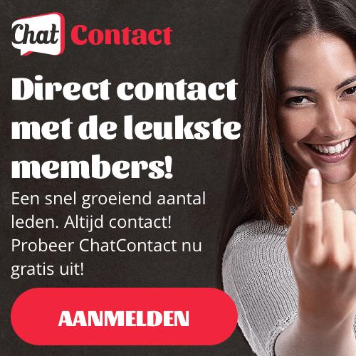 Gratis inschrijven bij Chat Contact en 20 credits