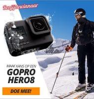 Win een luxe GOPRO HERO 8 t.w.v. € 400,-