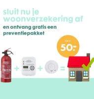 Ontvang gratis een preventiepakket bij woonverzekering