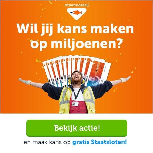 Win een Gratis Staatslot of € 5000.- netto