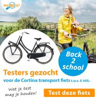 Test een Cortina Transport fiets t.w.v. € 449.-