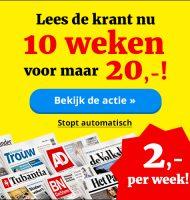 Favoriete krant nu 10 weken voor maar € 20,- 80% korting