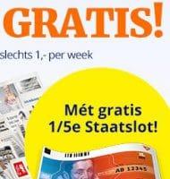 Favoriete krant met 1/5 staatslot 5 weken gratis
