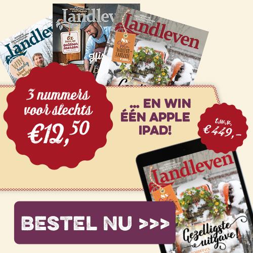 3x Landleven tijdschrift en kans op Apple iPad t.w.v. € 449,-