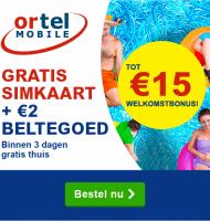 Gratis Simkaart + welkomstbonus van 15 euro