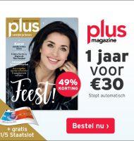 Gratis staatslot en 49% korting bij Plus Magazine