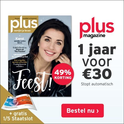 Gratis 1/5 staatslot en 49% korting bij Plus Magazine