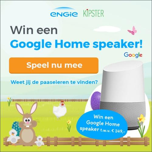 Win een Google Home speaker t.w.v. € 149.-