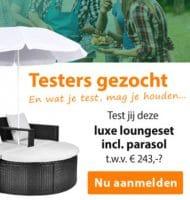Luxe Loungeset met passende parasol testen?