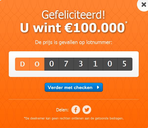 Win de Staatsloterij met Gratis Staatslot t.w.v. € 17,50