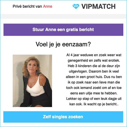 Jij zoekt en VIPMatch vindt! Schrijf je gratis in