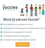 Meld je Gratis aan en ontvang 3 euro bij Yuccies