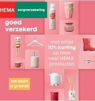 Met HEMA zorgverzekering 10% korting bij HEMA inkopen