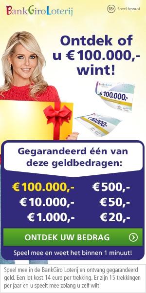 Wil je Gratis meespelen in Bankgiroloterij? Na de eerste maand gratis speelt u automatisch betaald verder voor slecht 14,- euro per maand.