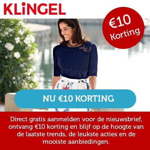 Klingel nieuwsbriefinschrijving voor € 10 korting