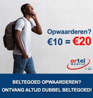 Simkaart opwaarderen? 10 euro = 20 euro