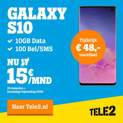Tele2 aanbieding met iPhone XR en Galaxy S10