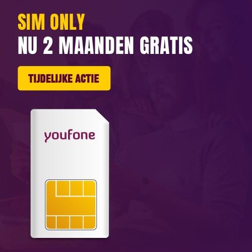 2 maanden gratis Sim Only bij Youfone