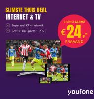 """Youfone """"alles in 1"""" met gratis FOX Sports 1, 2 en 3 kijken"""